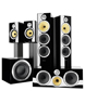 Aluminium tweeters, Kevlar, FST, Nautilus tapering tubes,Crossover, Flowport, strong cabinets